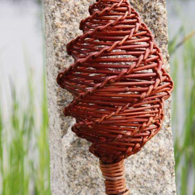 Gartenstecker aus Glockengeflecht