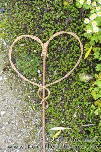 Herz- Gartenstecker